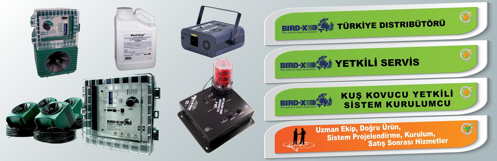 Kuş kovucu ürünler BIRDX Türkiye Distribütörü